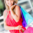 Woman on a shopping spree Woman on a shopping spree — Stock Photo