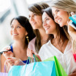 Royalty-Free Stock Photo: Group of friends shopping Group of friends shopping