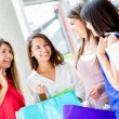 Group of shopping friends Group of shopping friends — Stock Photo