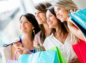 Group of friends shopping Group of friends shopping — Stock Photo