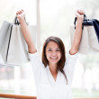 Excited shopping woman Excited shopping woman  — Stock Photo #19092247