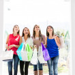 Women at the shopping center Women at the shopping center — Stock Photo