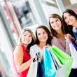 Shopping women looking away Shopping women looking away — Stock Photo #19155075