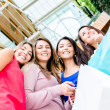 Group of female shoppers Group of female shoppers — Stock Photo