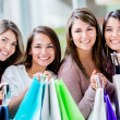 Beautiful shopping girls Beautiful shopping girls — Stock Photo