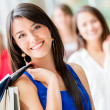 Happy shopping woman Happy shopping woman — Stock Photo #19155091