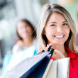 Beautiful shopping girl Beautiful shopping girl — Stock Photo #19155093
