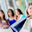Group of shopping girls Group of shopping girls — Stock Photo