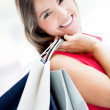 Gorgeous shopping girl Gorgeous shopping girl — Stockfoto