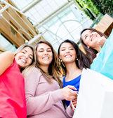 Group of female shoppers Group of female shoppers — Foto de Stock