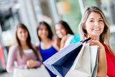 Group of shopping girls Group of shopping girls — Stock Photo