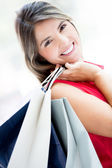 Gorgeous shopping girl Gorgeous shopping girl — ストック写真