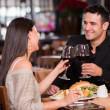 Stock Photo: Couple having dinner Couple having dinner