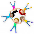 Royalty-Free Stock Photo: 3D Kids on the floor 3D Kids on the floor