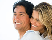 Couple portrait smiling Couple portrait smiling — Stock Photo