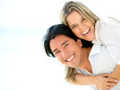 Beautiful couple looking happy Beautiful couple looking happy — Stock Photo