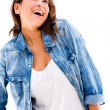 Happy woman laughing Happy woman laughing — Stock Photo