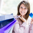 Shopping by credit card Shopping by credit card — Stock Photo #19192575