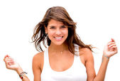 Gorgeous woman smiling Gorgeous woman smiling — Stock Photo