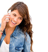 Woman talking on the phone Woman talking on the phone — Stock Photo