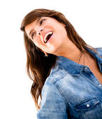 Playful woman having fun Playful woman having fun — Stock Photo