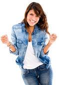 成功的幸福女人幸福的成功女人 — 图库照片
