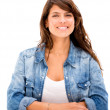 Casual woman smiling Casual woman smiling — Stock Photo #19495903