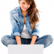 Royalty-Free Stock Photo: Woman with a laptop Woman with a laptop