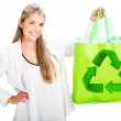 Woman recycling Woman recycling - Foto de Stock
