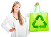 Woman recycling Woman recycling — Foto de Stock
