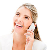Business woman on the phone Business woman on the phone — Stock Photo
