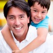 Стоковое фото: Happy father and son Happy father and son