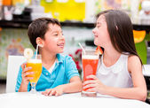 Kids at the restaurant Kids at the restaurant — Stock Photo