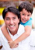 Happy father and son Happy father and son — Stock Photo