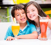 Kids at the diner Kids at the diner — Stock Photo