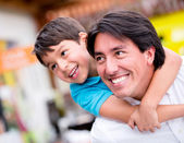 Father playing with his son Father playing with his son — Stock Photo