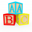 3D ABC cubes 3D ABC cubes  — Stock Photo