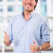 Businessman with thumbs up Businessman with thumbs up  — Stock Photo
