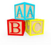 3d abc cubos 3d cubos abc — Foto de Stock