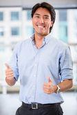 Businessman with thumbs up Businessman with thumbs up — Stock Photo