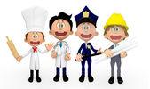 3D professions 3D professions — Stock Photo