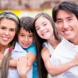Happy family smiling Happy family smiling — Stock Photo #19910667