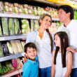 Family at the supermarket Family at the supermarket — Foto Stock