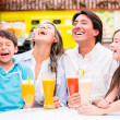 Happy family at the diner Happy family at the diner — Stock Photo
