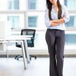 Happy business woman Happy business woman — Stock Photo