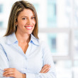 Friendly businesswoman Friendly businesswoman — Stock Photo