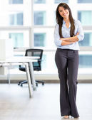 Happy business woman Happy business woman — Stock Photo