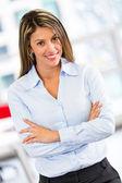 Bossy business woman Bossy business woman — Stock Photo
