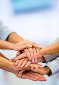 商业团队精神的业务团队合作 — 图库照片