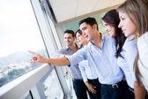 Grupo empresarial en el grupo de negocio de oficina en la oficina — Foto de Stock